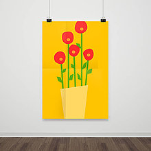 Grafika - [flowers] tlačený plagát a3 - 9374301_