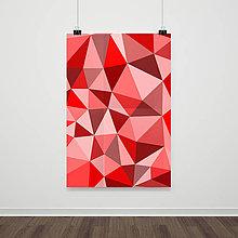Grafika - [red mosaic] tlačený plagát a3 - 9374321_