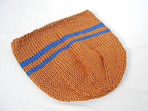 Detské čiapky - Hnedo - modrá čiapočka - 9372907_
