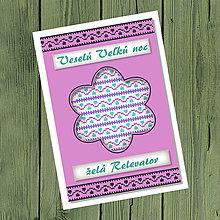 Papiernictvo - Folk veľkonočné pohľadnice 100% autorská tvorba (kvetinka 3) - 9373790_