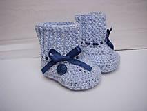 Topánočky - háčkované papučky - 9376112_