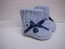 Topánočky - háčkované papučky - 9376113_