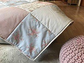 Úžitkový textil - moderna pudrova ružová so šedou a smotanovou - 9375495_
