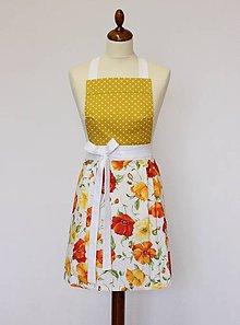 Iné oblečenie - zástera Maky žlté - 9377061_