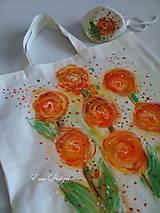 Nákupné tašky - nákupná taška s taštičkou - Vo víre ruží - 9376000_