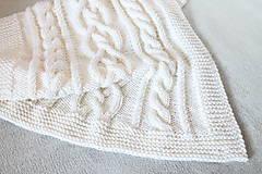Textil - Biela deka - 9377647_