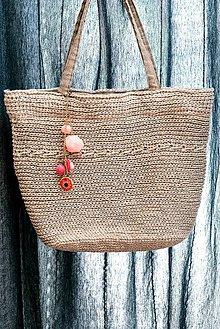 Veľké tašky - Taška Naturella s príveskom. - 9376291_