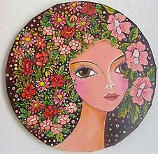 Obrazy - Obraz, Žena Ada, priemer 30 cm - 9376503_