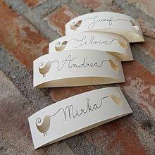 Papiernictvo - Menovka pre svadobných hostí - 9376706_