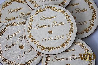 Darčeky pre svadobčanov - Svadobné magnetky - 9376842_