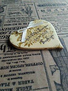Darčeky pre svadobčanov - zlaté svadobné magnetky - 9376040_