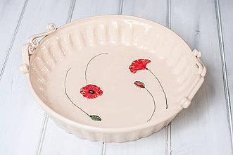 Nádoby - Forma na koláč- Vlčí mak - 9374685_