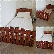 Nábytok - Drevená posteĺ Chalupárka 200x90 - 9374656_