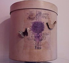 Krabičky - Papierová krabica - levanduľa - 9377121_