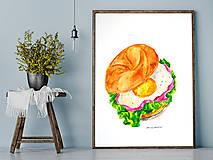 - Bagel s vajíčkom (Ilustrácia) - 9377452_
