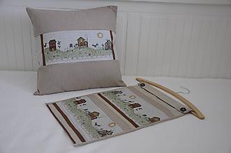 Textil - Vankúš + vreckár Vidiek - 9375031_
