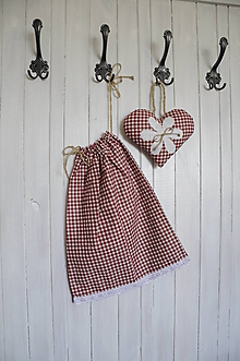 Úžitkový textil - Vrecko na bylinky + srdiečko - 9376243_