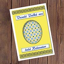 Papiernictvo - Folk veľkonočné pohľadnice 100% autorská tvorba (kraslica 4) - 9375889_