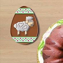 Dekorácie - Grafické čokoládové veľkonočné vajíčko ornamenty - 9377569_