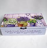 Drevená krabica 8 priečinková- levanduľová
