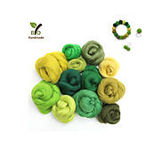 Sady šperkov - Jarná súprava 12 odtieňov zelenej - 9378520_