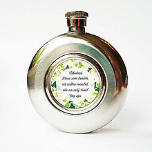 Nádoby - Ploskačka - Svadobná s brečtanom - 9378185_