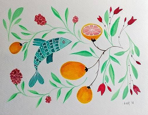 V kuchyni ilustracia / originál maľba