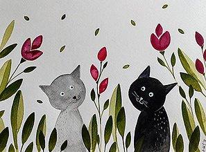 Obrazy - Kocúrkovo 3  ilustrácia  / originál maľba - 9378219_