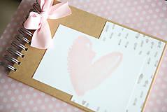 Papiernictvo - Scrapbook album na fotografie / kniha hostí - 9379696_
