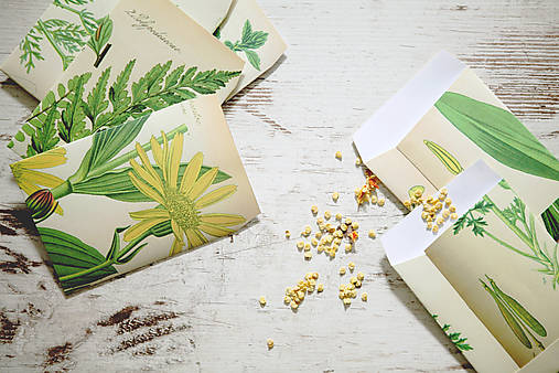 Papierové sáčky na semienka (do záhrady)