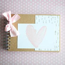 Papiernictvo - Scrapbook album na fotografie / kniha hostí (Ružová) - 9379695_