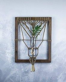 Dekorácie - Macramé obraz s vázičkou - Jutový strom AKCIA z 26 € teraz len za 20 € - 9378256_