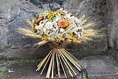 Dekorácie - Kytica zo sušených kvetín - 9378918_