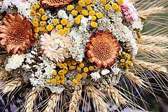 Dekorácie - Kytica zo sušených kvetín - 9378919_