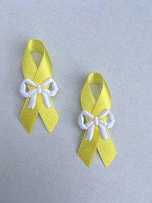 Pierka - svadobné pierko biele (Žltá) - 9377832_