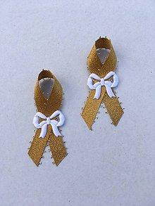 Pierka - svadobné pierko biele (Zlatá) - 9377850_