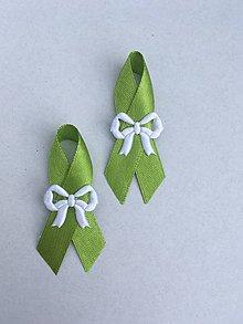 Pierka - svadobné pierko biele (Zelená) - 9377855_