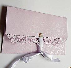Papiernictvo - svadobná obálka na peniaze staroružová - 9379007_