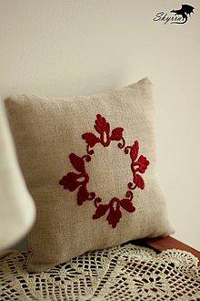 Úžitkový textil - Vankúšik na obrúčky