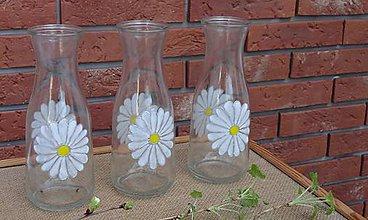 Dekorácie - maľovaná váza - margarétka - 9380158_