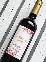 Darčeky pre svadobčanov - Etikety Rosa - 9381127_