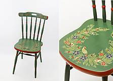 - Ľudová maľovaná stolička - 9380292_