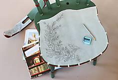 Nábytok - Ľudová maľovaná stolička - 9380375_