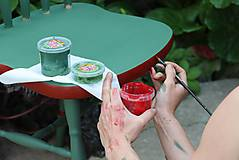 Nábytok - Ľudová maľovaná stolička - 9380378_