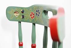 Nábytok - Ľudová maľovaná stolička - 9380503_
