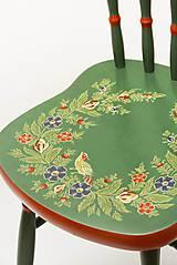 Nábytok - Ľudová maľovaná stolička - 9380532_