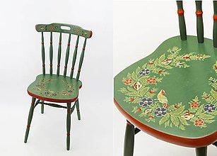 Nábytok - Ľudová maľovaná stolička - 9380292_