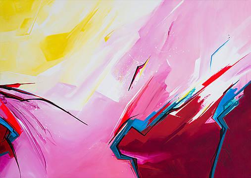 Obraz Storm abstraction, 70 x 50 cm, akryl na plátne