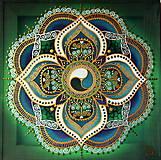 Obrazy - Mandala zdravia a prosperity - 9378113_