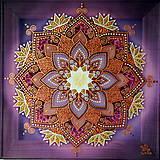 Obrazy - Mandala...Pod šťastnou hviezdou - 9378129_